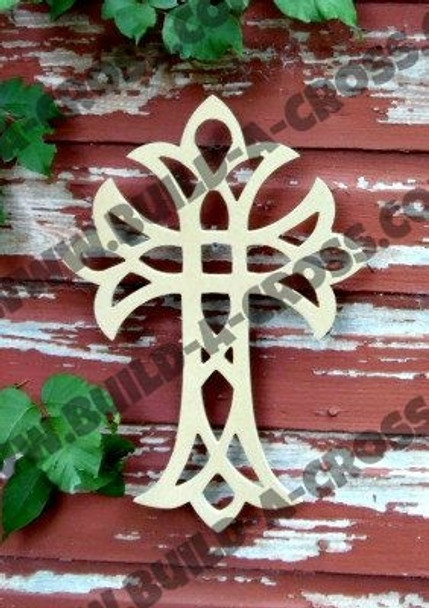 UNFINISHED WOODEN CROSS WALL HANGING STACKABLE CROSS (55)