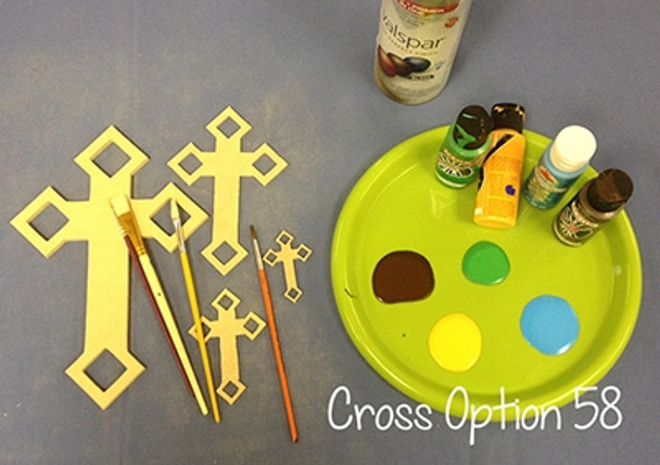 UNFINISHED WOODEN CROSS Paint-able WALL HANGING CROSS (58)