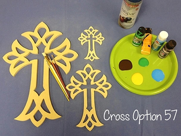 UNFINISHED WOODEN CROSS PAINTABLE STACKABLE CROSS