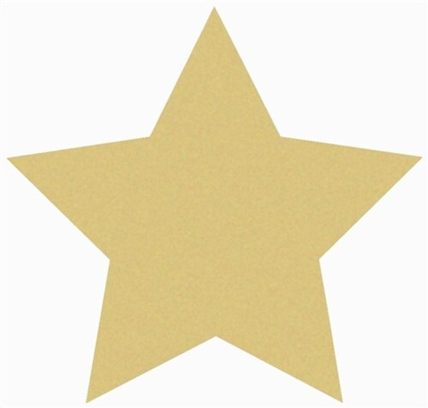 Star Unfinished Cutout Paintable Wooden MDF