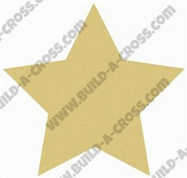 Star Unfinished Cutout Paintable Wooden MDF build-a-cross