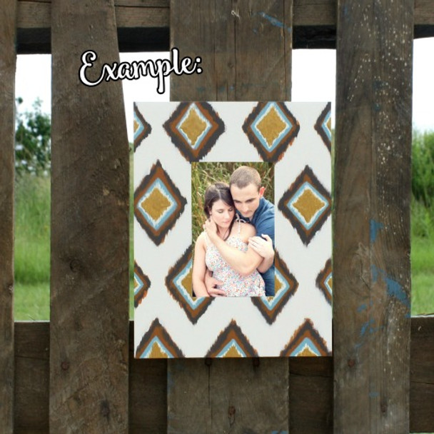 Unfinished Rectangle Picture Frame Wooden Paint-able DIY