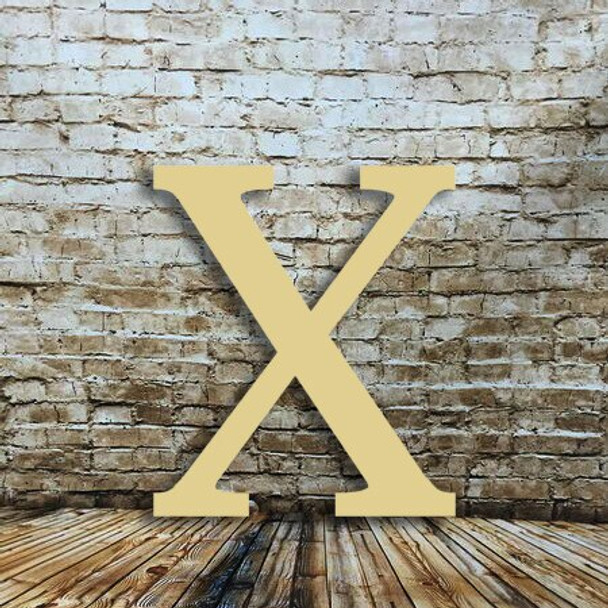 Wooden letters alphabet Chi are cheap wooden Greek letter
