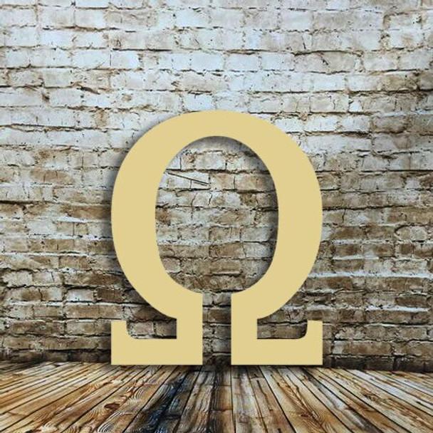 Giant wood letters Omega