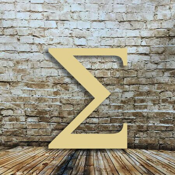 Wood Greek letters Sigma are cheap large letters