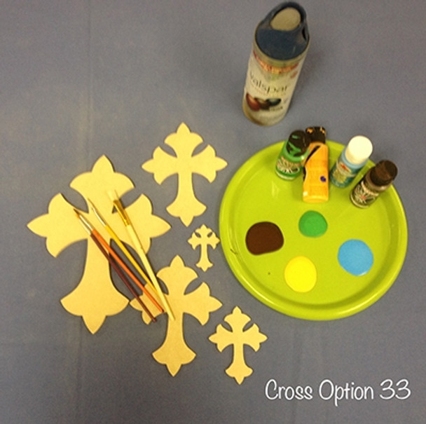 Unfinished Wooden Cross Paint-able Wall Hanging Stackable Cross 33