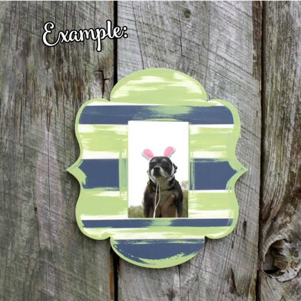 Unfinished Alice Whimsical Picture Frame Wooden Paint-able DIY Craft