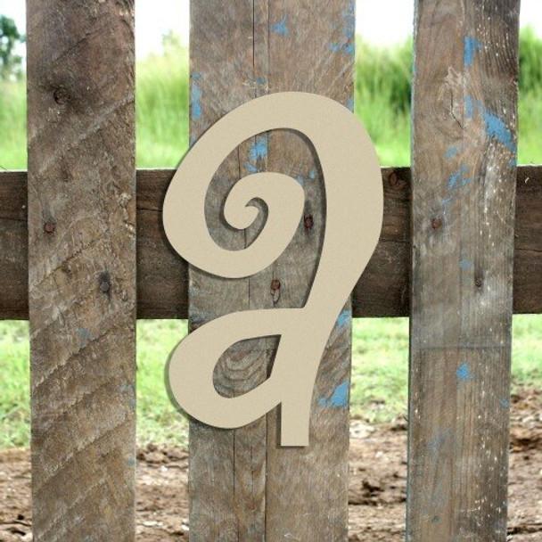 Lowercase Alphabet Curlz Letters Unpainted-a