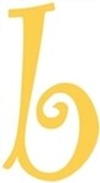 Lowercase Alphabet Curlz Letters Unpainted-b
