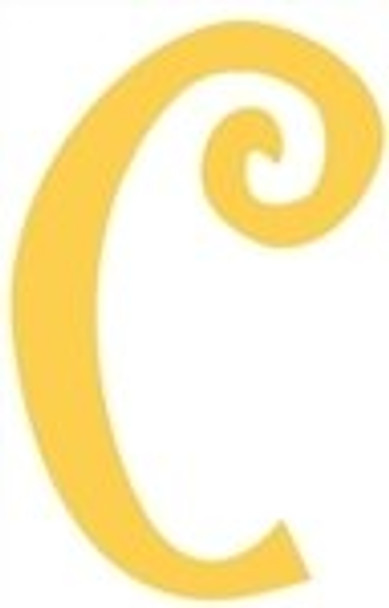 Lowercase Alphabet Curlz Letters Unpainted-c