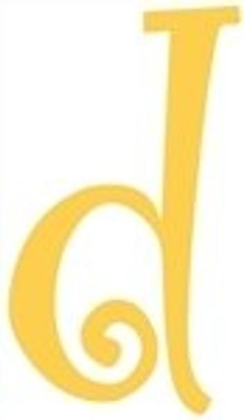 Lowercase Alphabet Curlz Letters Unpainted-d