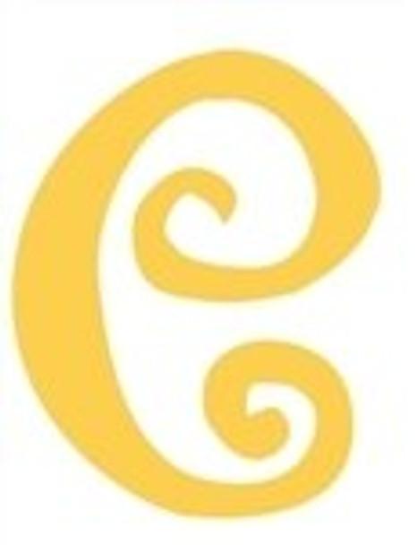 Lowercase Alphabet Curlz Letters Unpainted-e