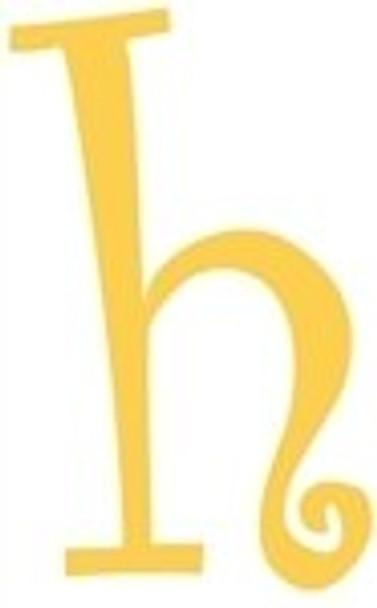 Lowercase Alphabet Curlz Letters Unpainted-h