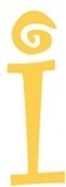 Lowercase Alphabet Curlz Letters Unpainted-i
