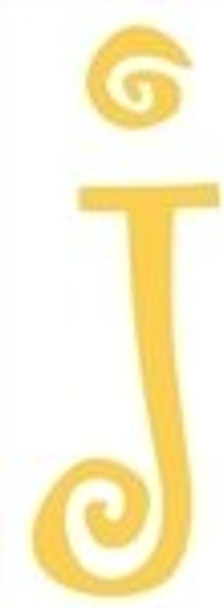 Lowercase Alphabet Curlz Letters Unpainted-j