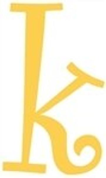 Lowercase Alphabet Curlz Letters Unpainted-k