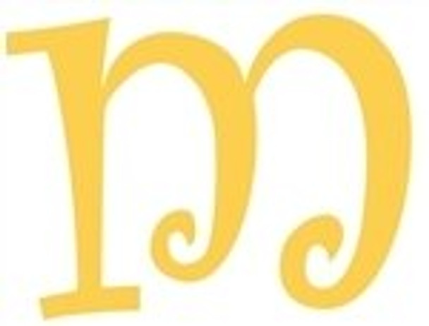Lowercase Alphabet Curlz Letters Unpainted-m