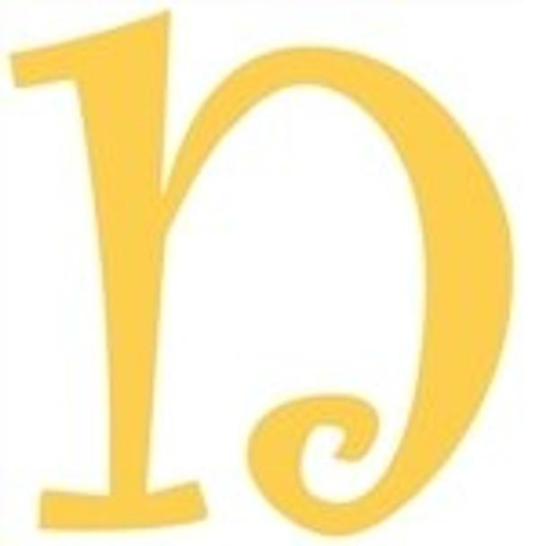 Lowercase Alphabet Curlz Letters Unpainted-n