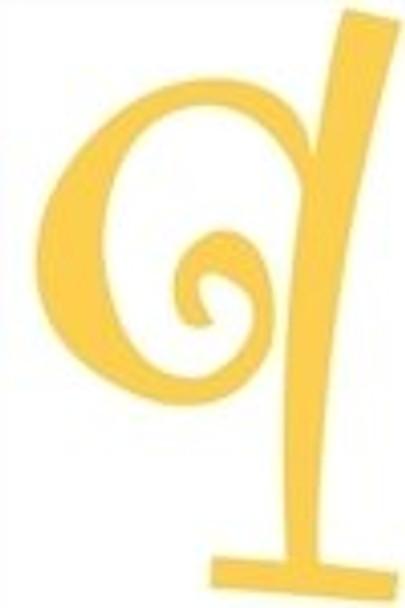 Lowercase Alphabet Curlz Letters Unpainted-q