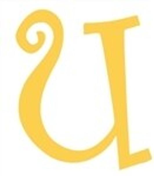 Lowercase Alphabet Curlz Letters Unpainted-u