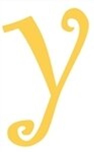 Lowercase Alphabet Curlz Letters Unpainted-y