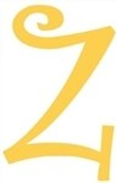 Lowercase Alphabet Curlz Letters Unpainted-z