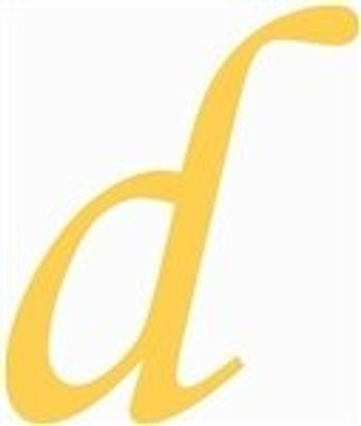 Wooden Lowercase Unfinished Letter Wall Art-d