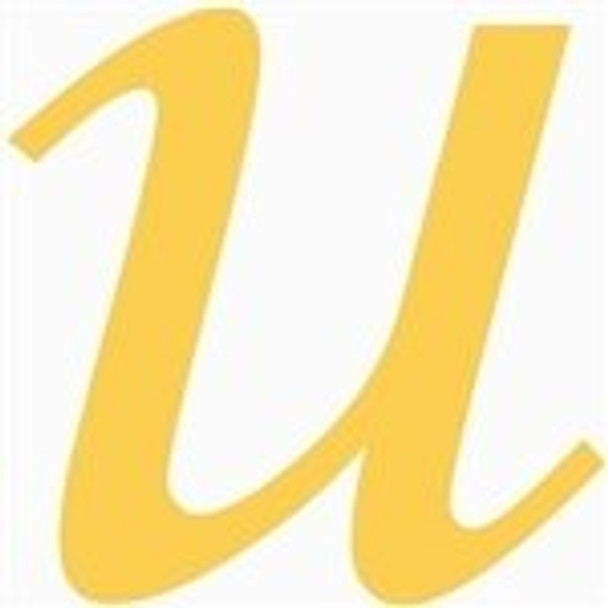 Wooden Lowercase Unfinished Letter Wall Art-u