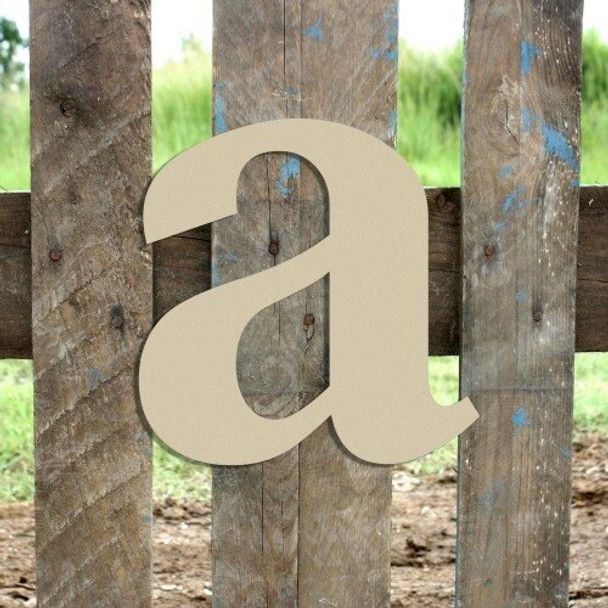 Lowercase Letters Decorative Wood Cutouts-a
