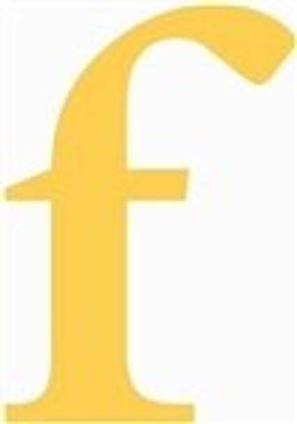 Lowercase Letters Decorative Wood Cutouts-f