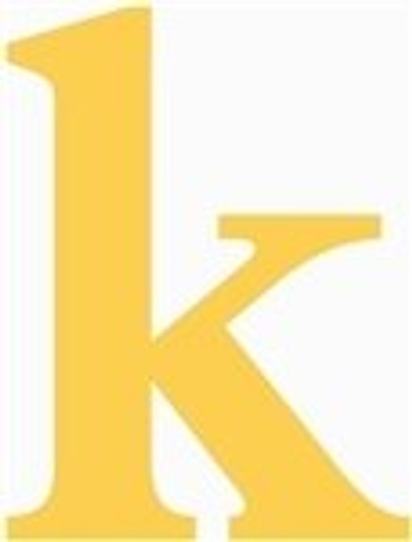 Lowercase Letters Decorative Wood Cutouts-k