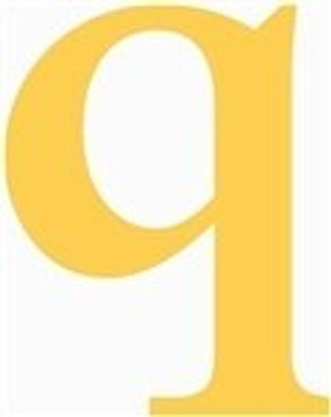 Lowercase Letters Decorative Wood Cutouts-q