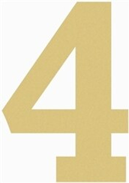 Unfinished Wooden Rockwell Numbers Paintable Cutout-4