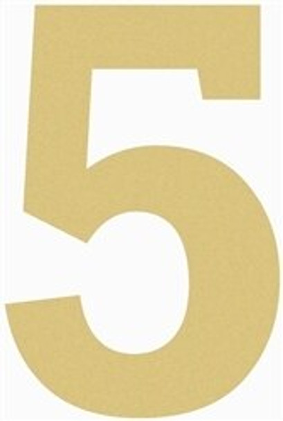 Unfinished Wooden Rockwell Numbers Paintable Cutout-5