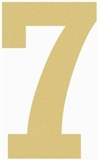 Unfinished Wooden Rockwell Numbers Paintable Cutout-7
