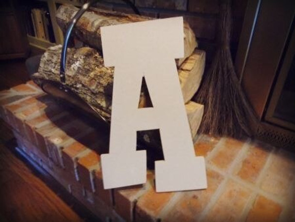 Unfinished MDF Wood Letters Alphabet-A