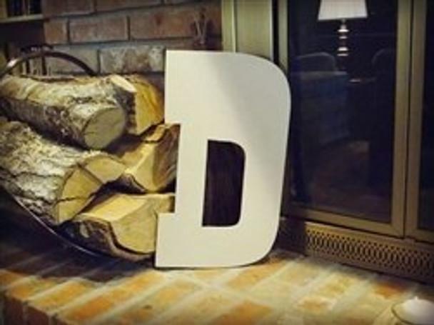 Unfinished MDF Wood Letters Alphabet-D