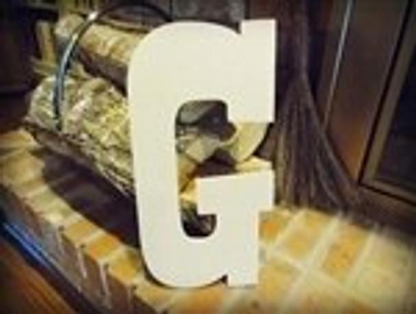 Unfinished MDF Wood Letters Alphabet-G