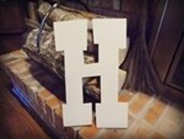 Unfinished MDF Wood Letters Alphabet-H