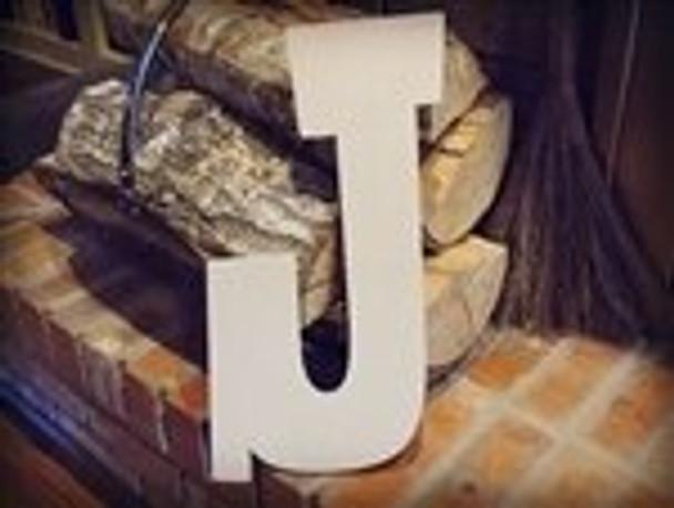Unfinished MDF Wood Letters Alphabet-J