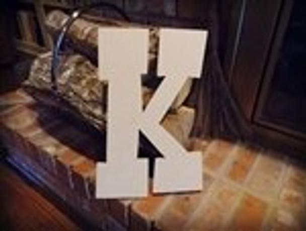 Unfinished MDF Wood Letters Alphabet-K