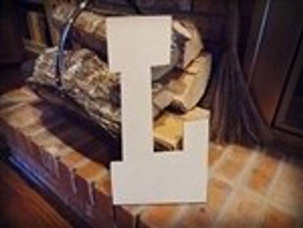 Unfinished MDF Wood Letters Alphabet-L