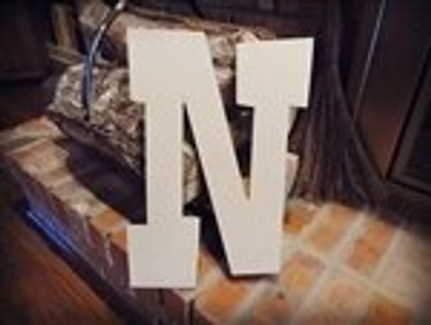 Unfinished MDF Wood Letters Alphabet-N