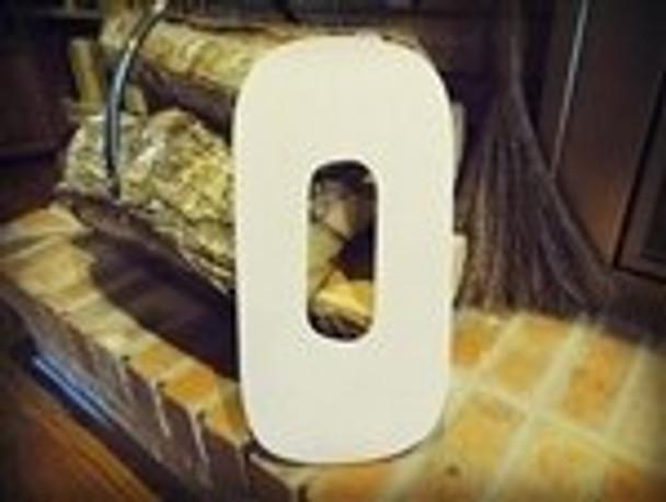 Unfinished MDF Wood Letters Alphabet-O