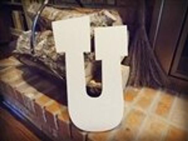 Unfinished MDF Wood Letters Alphabet-U