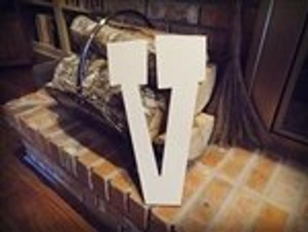 Unfinished MDF Wood Letters Alphabet-V