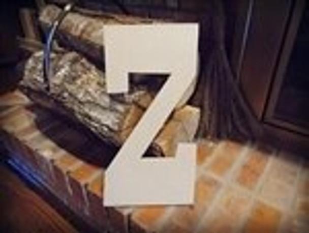 Unfinished MDF Wood Letters Alphabet-Z