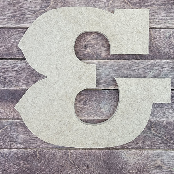 Unfinished Wooden Alphabet Letter, Wall Decor, Saddlebag Unpainted