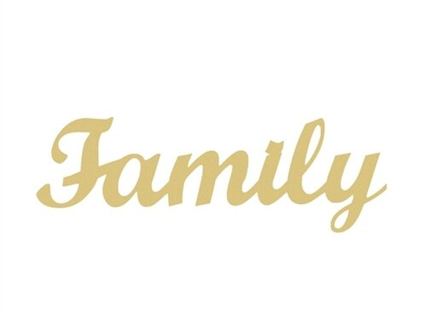 Unfinished Wooden Connected Word-Family