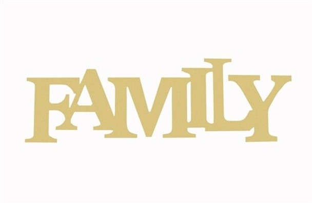 Unfinished Wooden Connected Block Word-Family
